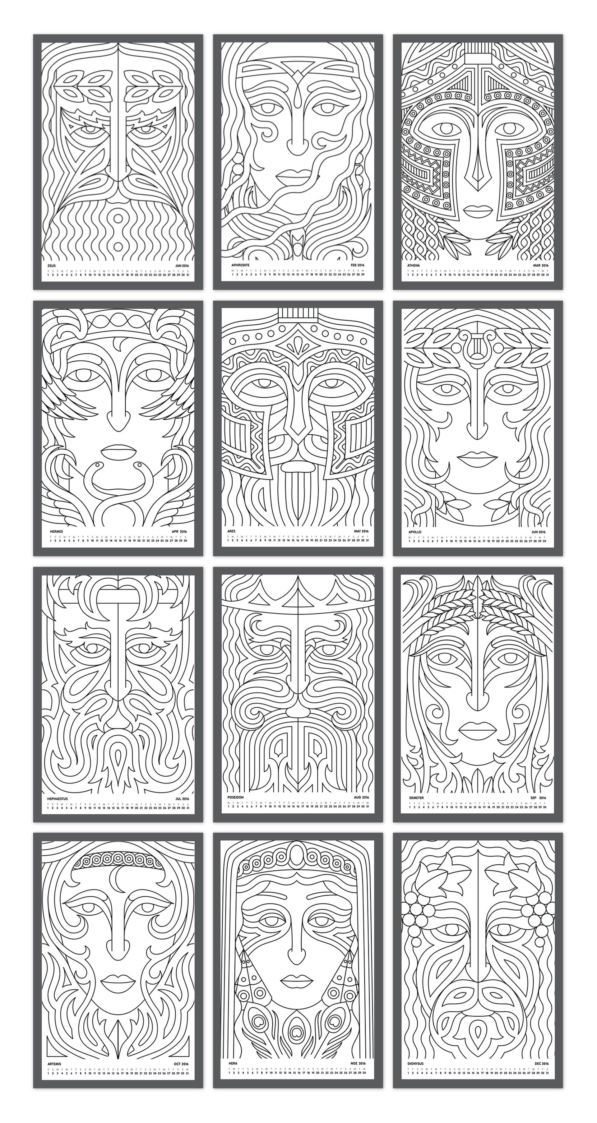 designpark_coloring_calendar_greek_gods_outline